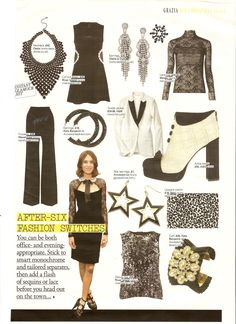 Christmas Monochrome in Grazia Magazine featuring Alexa Chung