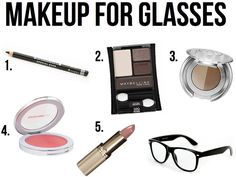 Makeup with glasses.... I get pretty lazy with the contacts sinece I have morning classes, so this is perfect....