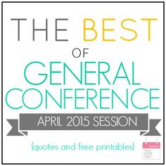 The Best of General Conference 2015