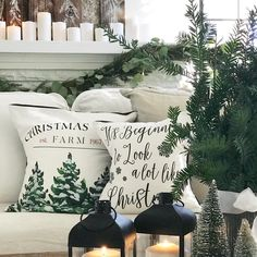 could make custom holiday pillow cases for couch pillows...who has room to store extra holiday pillows in addition to regular pillows?