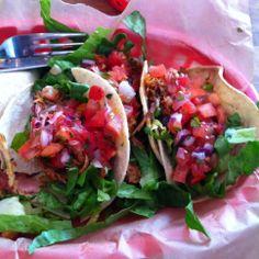 Wild rabbit tacos with tinga sauce