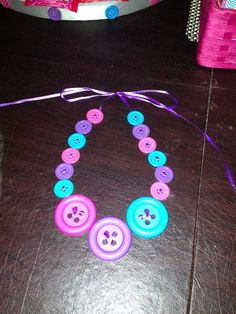 """Photo 13 of Lalaloopsy Party / Birthday """"Lalaloopsy Birthday"""" 6th Birthday Parties, Baby Birthday, Birthday Ideas, Lalaloopsy Party, Childrens Party, Craft Party, Party Goods, Button Necklace, Party Accessories"""