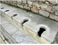 Roman era toilets...can I have some privacy!