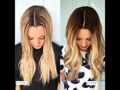 DIY - from Blonde to the Perfect Balayage - Easy to Follow At Home Tutorial - YouTube