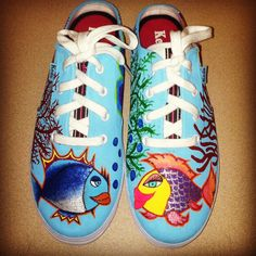 Hand painted shoes for my step mom...;)