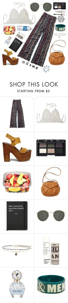 """""""Happy Song    Bring Me The Horizon"""" by hippyandwaves ❤ liked on Polyvore featuring Abercrombie & Fitch, Steve Madden, NARS Cosmetics, Billabong, Ray-Ban, Miss Selfridge, Korres, Marc Jacobs, Hot Topic and Topshop"""