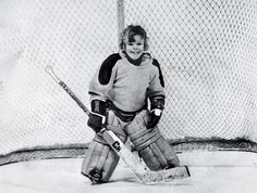 Martin Brodeur in 1977 at age 5, during a minor-hockey practice in St-Léonard, Quebec. via NYT