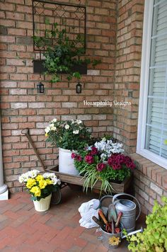 Beautiful Spring Front Porch from Hospitality Designs! #BringInSpring