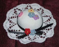 Handcrafted Crochet Flower Hat Pincushion