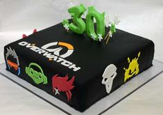 Post with 7506 views. 11th Birthday, 6th Birthday Parties, Surprise Birthday, Birthday Cakes, Birthday Ideas, Overwatch Cake, Overwatch Birthday, Ps4 Cake, Video Game Cakes