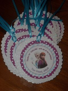 Personalized Disney Frozen Anna & Elsa Birthday Goodie Bag Tags - Set of 18 on Etsy, $18.00