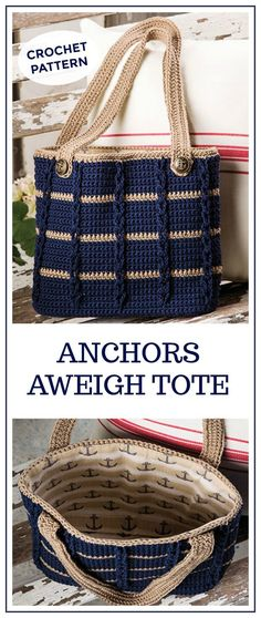 Love the finished tote. Anchors Aweigh Tote, Tote bag pattern pdf, crochet tote pattern, crochet handbag pattern, handbag pattern pdf, easy bag pattern, crochet pattern bag, tote bag #crochet #crochetpattern #ad #tote #diy #crafts #summer #beach
