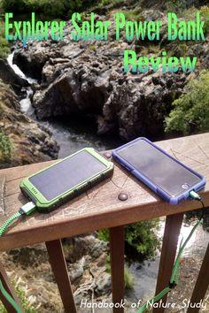 Explorer Solar Power Bank Review @handbookofnaturestudy