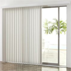 "JCPenney Home"" 3"" Vertical Blinds, White - Blinds + Shades >... (1,590 MXN) ❤ liked on Polyvore featuring home, home decor, window treatments, window blinds, cordless window blinds, patio window blinds, cordless blinds, window shades and patio shades"