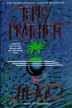In this Discworld novel, the ravening hordes of Klatch and the patriotic peoples of Ankh-Morpork clash over the sovereignty of a newly risen and quite uninhabitable island. (Discworld #21)