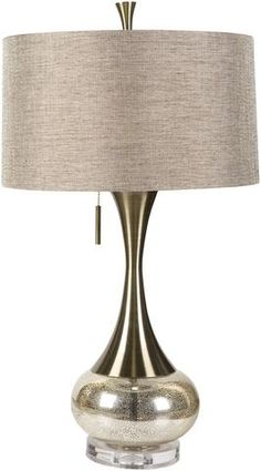 Lamp Glam Table Lamp Aged Brass/Mercury Glass Silver/Gold | Modern Table Lamp by Surya at Contemporary Modern Furniture  Warehouse
