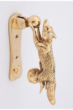 Fox door handle at Horse Country Store. I would like this with a green patina.