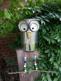 More security and convenience with intelligent radio systems Tin can art, garden crafts, tin can crafts – The World Tin Can Crafts, Owl Crafts, Diy And Crafts, Arts And Crafts, Easy Crafts, Garden Crafts, Garden Projects, Craft Projects, Garden Deco