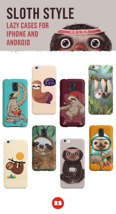 Love sleep? Is your idea of a good day spending it lounging on the couch? These adorably snoozy sloth designs are for you, lazybones! Shop these and more cute animal-inspired iPhone and Samsung Galaxy cases on Redbubble.com.