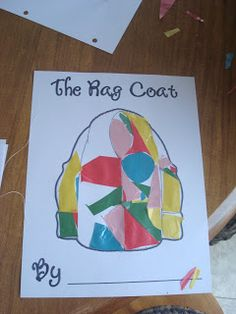 """FIAR co-op unit study on the book """"The Rag Coat"""" by Journeying with Joy blog. Great idea using tissue paper to make rag coat craft!"""