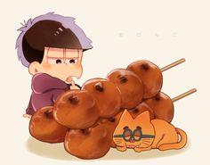 「もぐ松さん」/「いちと」の漫画 [pixiv] All Anime, Anime Love, Chibi Food, Ichimatsu, Howls Moving Castle, South Park, Kawaii Anime, Mickey Mouse, Doodles