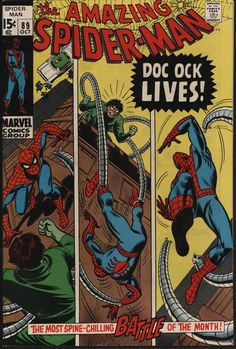 AMAZING SPIDER-MAN #89 VS DOCTOR OCTOPUS! WITE PAGES! GLOSSY CENTS COPY
