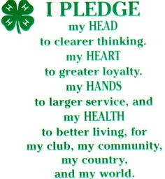 4h pledge | more likely to spend time exercising or being physically active.
