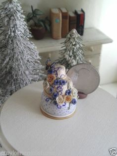 Dollhouse Miniature One Inch Scale Butterfly cake by CSpykersMiniatures