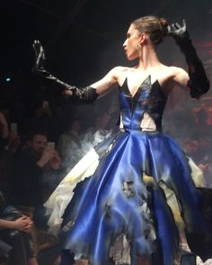 Pin for Later: The Dresses Were on Fire at Moschino's Fall '16 Show Then, the Show Was on Fire Literally — holes were burned into the pieces and there was smoke.