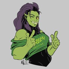 """Max Gibson on Twitter: """"Don't mess with the Green Machine #orc #green #girl #sketch… """""""