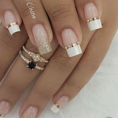 100 Beautiful wedding nail art ideas for your big day - wedding nails bride nails nail art romantic nails pink nails inspiration Simple Nail Art Designs, Winter Nail Designs, Hair And Nails, My Nails, Heart Nails, Romantic Nails, Wedding Nails Design, Nail Wedding, Winter Wedding Nails