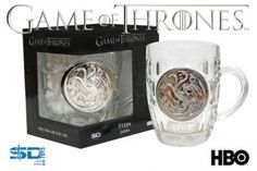 jarra cristal escudo metalico targaryen game of thrones #gameofthrones
