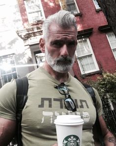 Silver fox stay grey 15 Stunning Silver Foxes That Will Awaken Your Inner Thirst Anthony Varrecchia, Silver Foxes Men, Handsome Older Men, Handsome Man, Grey Beards, Men With Grey Hair, Black Hair, Mature Men, Haircuts For Men