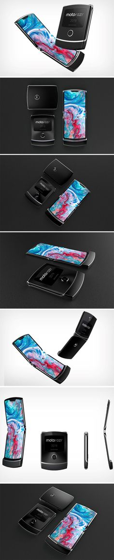 The Moto Razr 2019 is the perfect fusion of futurism and nostalgia The visualization of the 2019 Razr bases. V Tech, Geek Tech, Technology Design, Cool Technology, Geek Gadgets, Cool Gadgets, Efficient Packing, Flexible Display, Patent Drawing