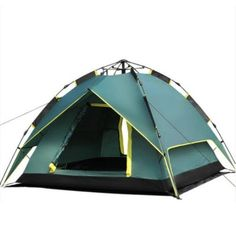 Auto Pop Up UV Tent for 3 Person 4 Season Double Skin Outdoor Utility Tents Aluminum Rod Army Green