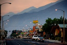 Bishop California, where I now live.  a lovely friendly town nestled between the Sierra Nevada and the white Mountains.