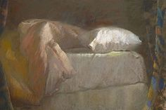 """Sally Strand - """"Bedside, A.M."""" - Pastel on paper."""