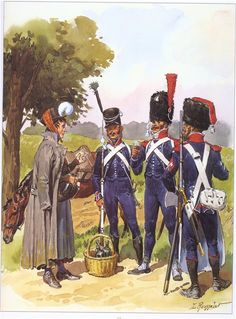 French; Light Infantry- Cantinierie, Voltigeur, Carabiner & Sapper