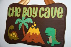Boy Cave Hanging Door Sign by SuzanKiernicki on Etsy, $16.00