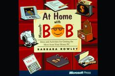 Cover of the 1995 Microsoft Press book At Home with Microsoft Bob.
