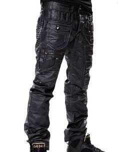 Jeans japrag fashion noir huilé