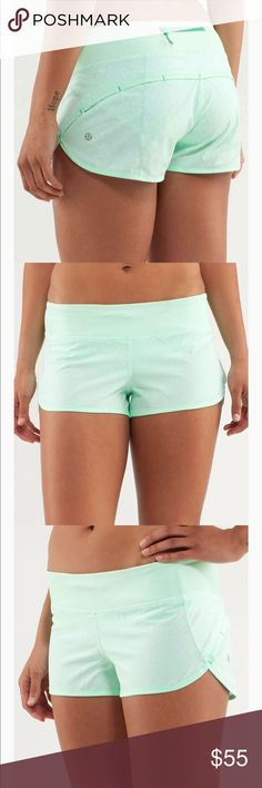 ❤️NEW❤️Lululemon Athletica Teal Speed Short Size 4 These are brand spanking new without tags!! They've been in my drawer for so long, I'm a 6 in Lulu, so these have just sat there! Please no lowballing, they're brand new ☺️ lululemon athletica Shorts