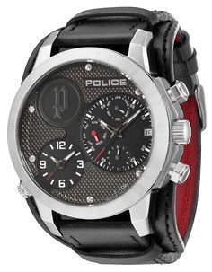 bd1e4c01199 Police Herrenuhr P14188JS-61 Anaconda Armbanduhr Unterlegearmband…