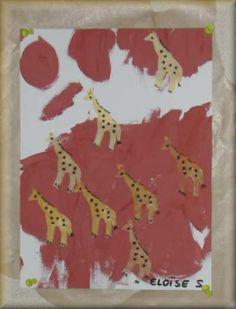 Ecole Maternelle René Cassin - PS - Motifs animaux d'Afrique
