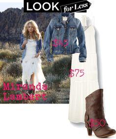 """Miranda Lambert---look for less"" by mollylsanders on Polyvore"