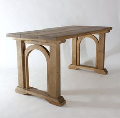 Reclaimed Farmhouse Kitchen Table w/ Arch Detail by WLMarket, $650.00