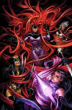 Medusa Vs X-23, Storm and Psylocke