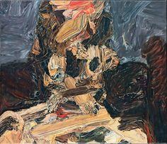 """ Glenn Brown (British, b.1966), Entertainment, 1995. Oil on canvas mounted on board, 53 x 61.5 cm. """
