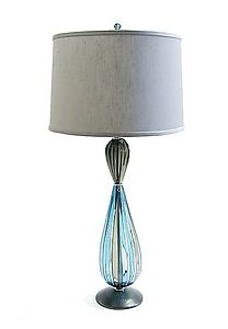 Pear Lamp: Tracy Glover: Art Glass Table Lamp | Artful Home