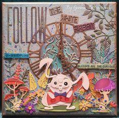 Giraffe, Elephant, Magnolia Stamps, Animal Cards, Tim Holtz, Mixed Media Art, Alice In Wonderland, Rabbit, Happy Birthday